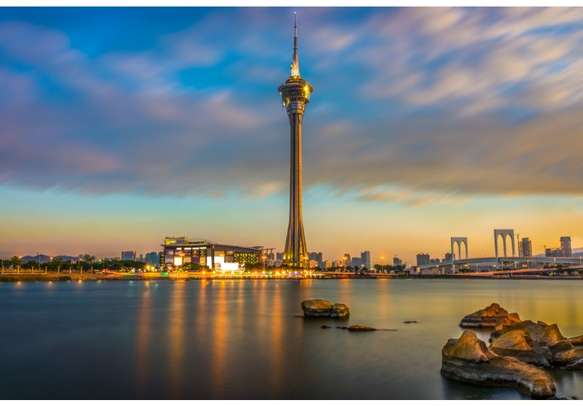 Admire the sweeping views of the city from the Macau Tower