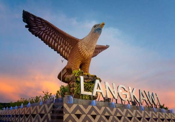 Sunset at Eagle Square Langkawi