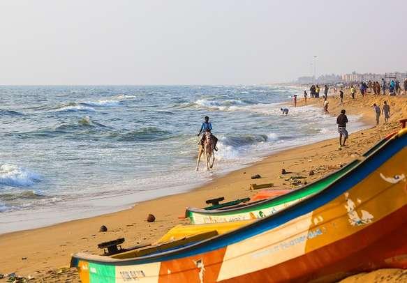 Marine Beach in Chennai