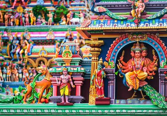 The beautiful Marundeeswarar temple