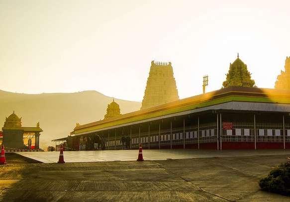 Sunset at Venkateswara temple