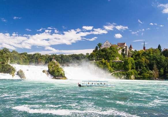 The majestic Rhine Falls