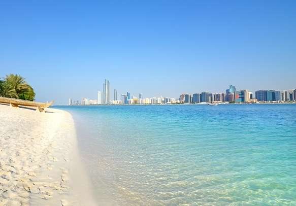 Peaceful beach in Abu Dhabi