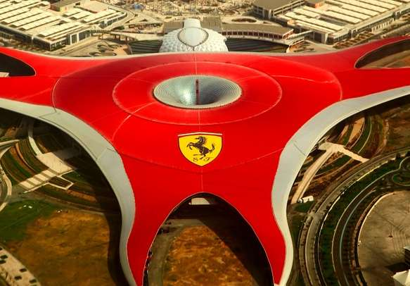 Check out the fastest and the highest roller-coaster in Ferrari World Theme Park