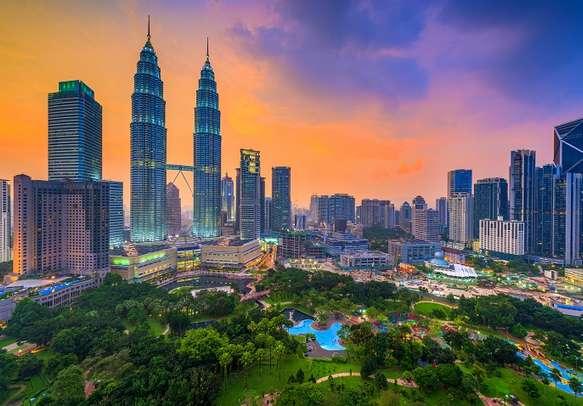 Kuala Lumpur lit at night
