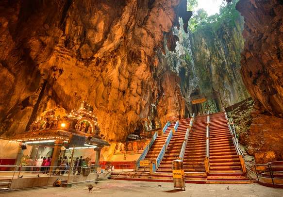 Learn about the history at the 400 million years old Batu Caves