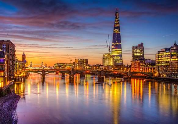 View of River Thames in London