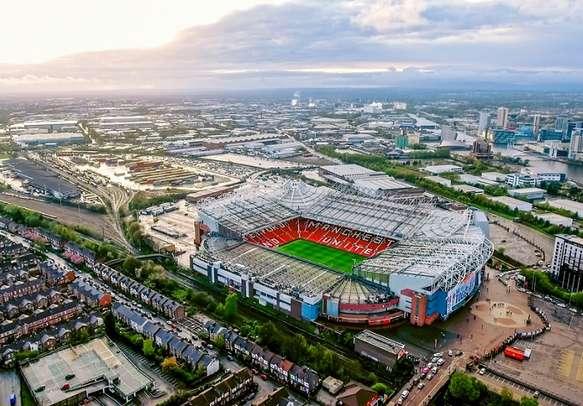 Old Trafford stadium in Manchester