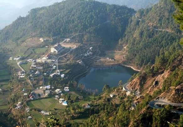 Landscape view of Nainital