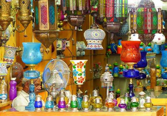 Attractive handicraft lamp in Rajasthan