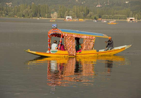 Shikara ride in Kashmir