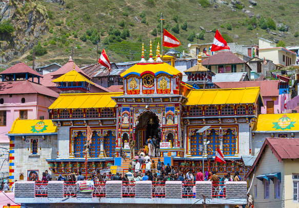A temple in Badrinath