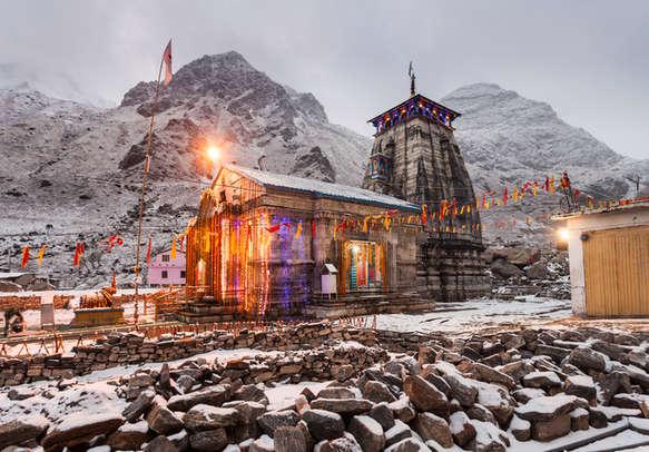 A temple in Kedarnath