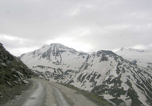Beautiful mountain view with snow of gulmarg
