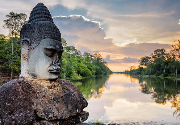 Landmark reflection of Cambodia