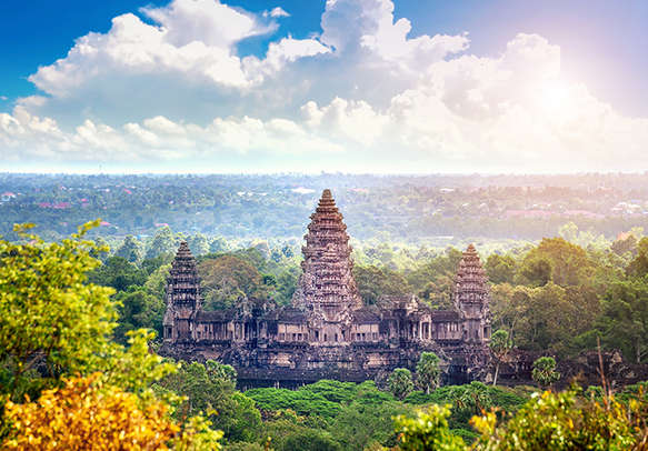 Beautiful Buddhist attractions temple