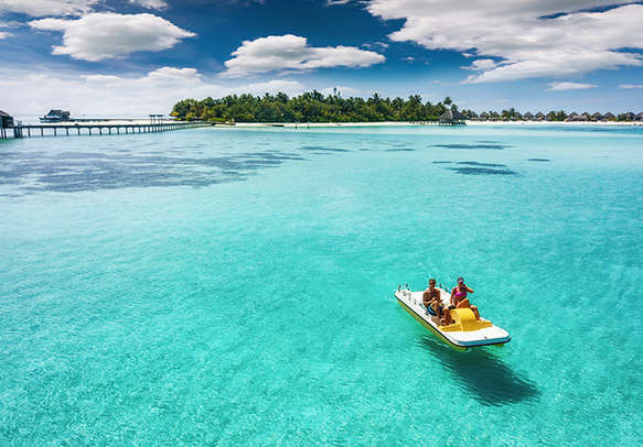 The strange yet beautiful beaches of Maldives are a popular tourist attractions