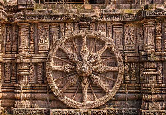 Marvel at the chariot wheel in Sun Temple