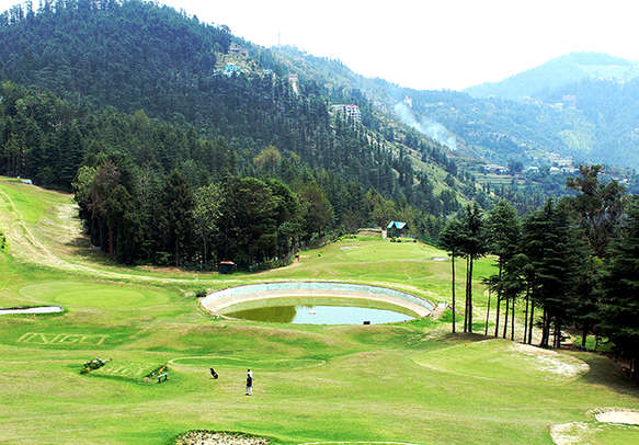 The golf field at shimla also mesmerized you with surroundings nature