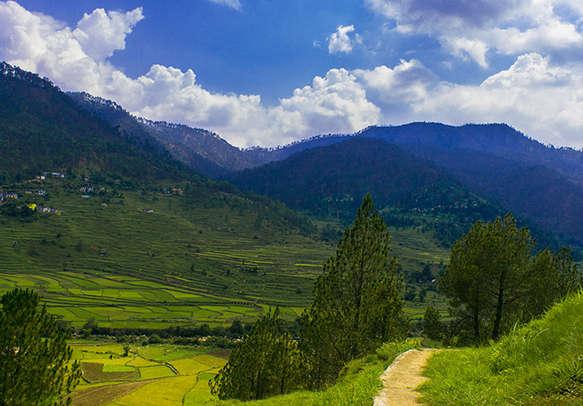 Beautiful landscape of Kausani