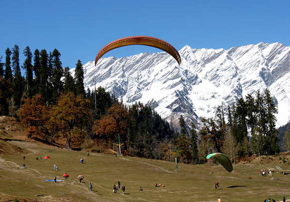 Paragliding in Solang Valley offers the best kind of adventure