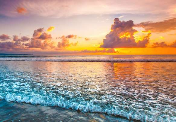 Delight in the soothing sunset