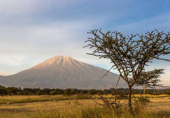 Beautiful view of the Meru mountain