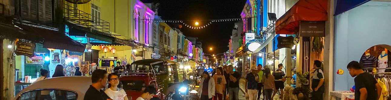 Enjoy exploring Phuket market in the evening