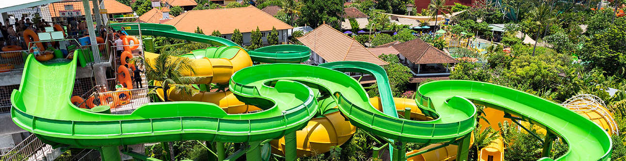Waterbom rides in Bali