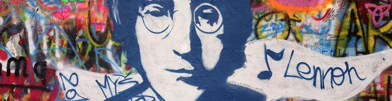 John Lennon Memorial Wall In Prague
