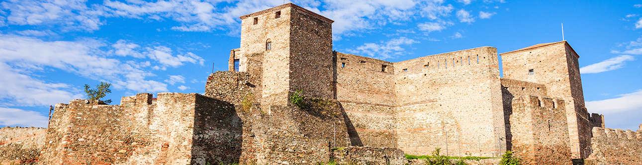 Byzantine Walls In Thessaloniki