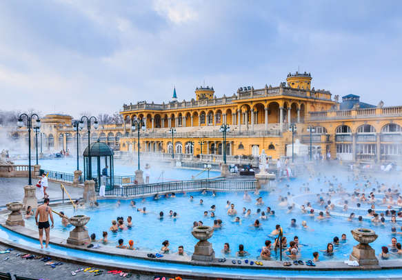 Szechenyi Baths in Budapest, Hungary.