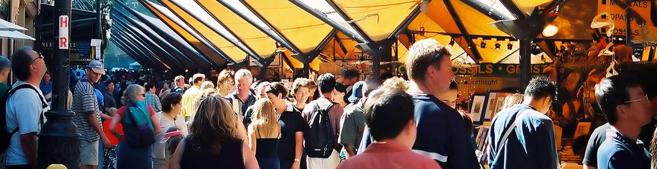 Shopping at Rocks market In Sydney