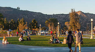 Take a walk in the beautiful gardens in Griffith Park