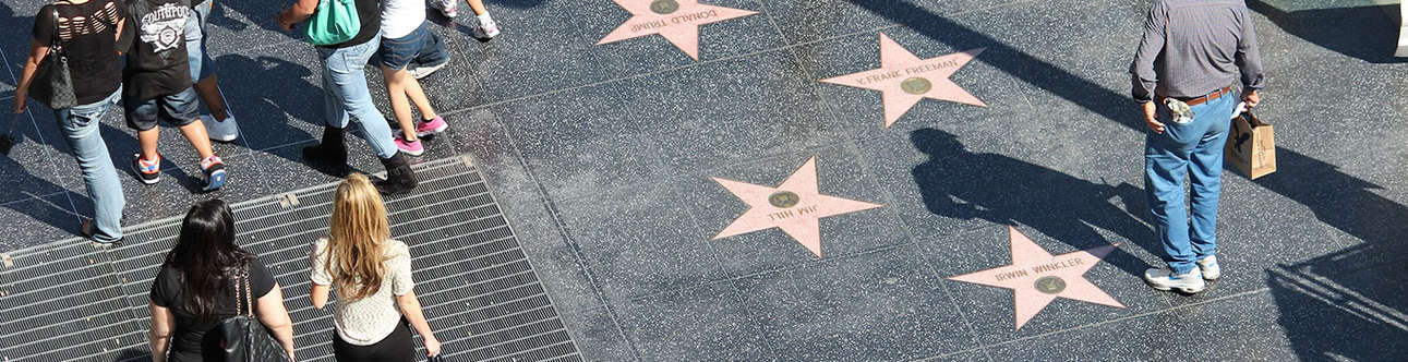 Explore the Hollywood walk of Fame