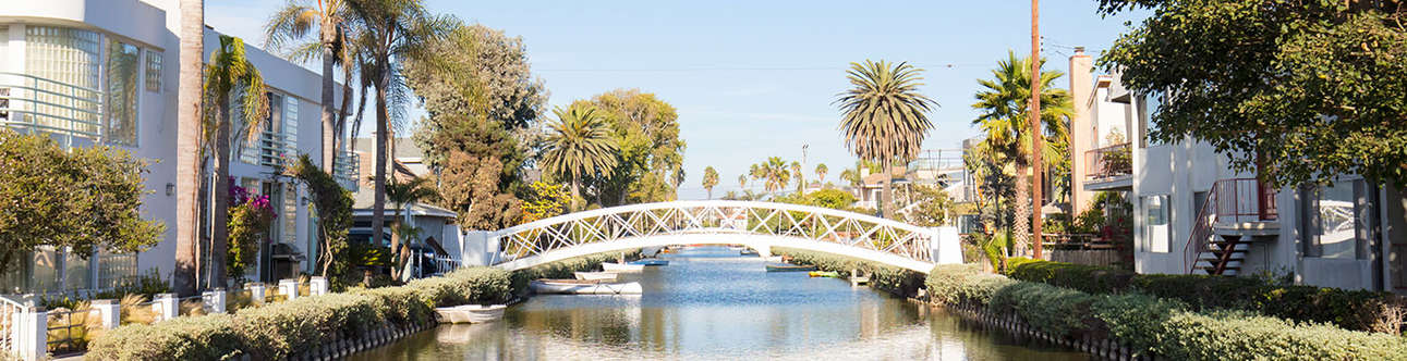 Enjoy the scenic views of Venice-Canals