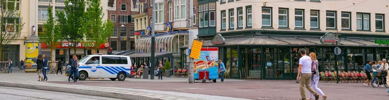 Visit the Leidseplein in Amsterdam