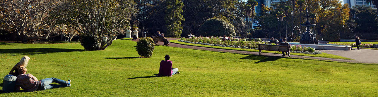 See the beauty of Albert Park in New Zealand.