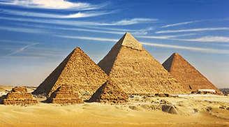 Explore the Pyramids of Giza in Cairo