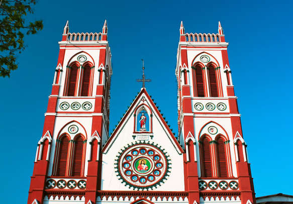 Cacred heart Church at pondicherry