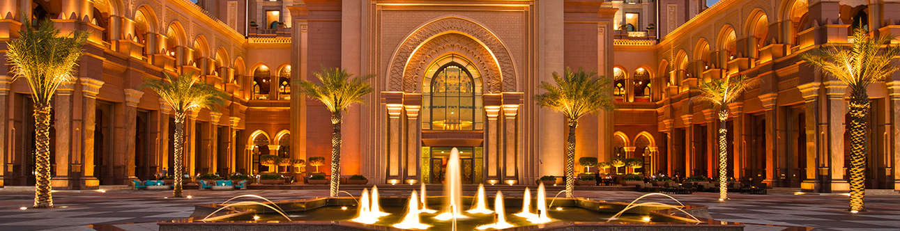 Gorgeous view of the Emirates Palace in Abu Dhabi