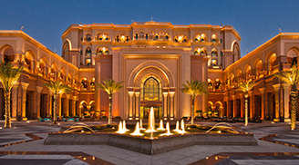 Have an amazing time at the Emirates Palace in Abu Dhabi