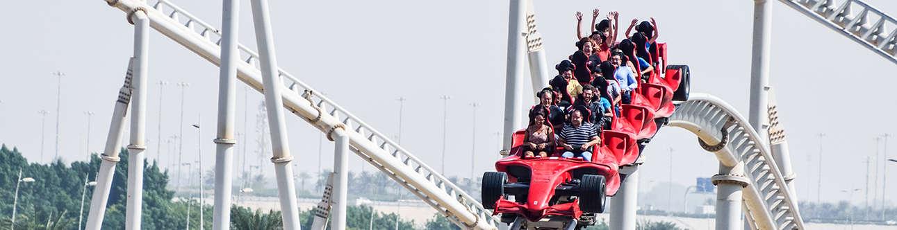 Formula Rossa Roller Coaster In Abu Dhabi