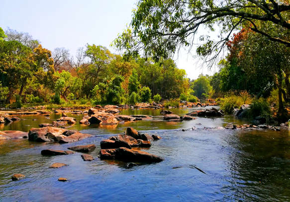 Lake in kuruva dweep wayanad in kerala