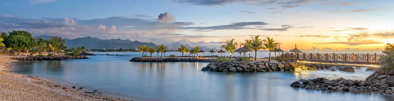 The beautiful view of Balaclava in Mauritius