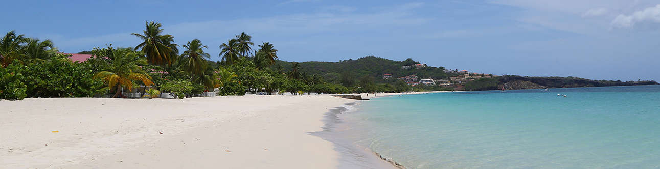 A view of grand anse beach in Seychelles