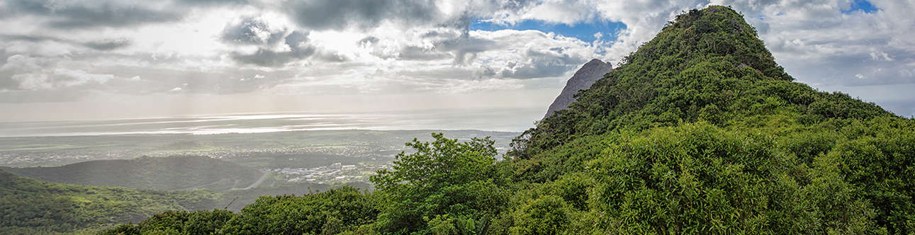 The mesmerizing view of Le Pouce in Mauritius