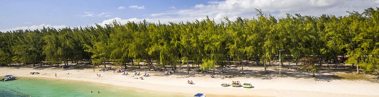 Beautiful Mont Choisy beach at Mauritius