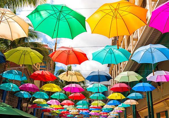 The vibrant capital city of Port Louis