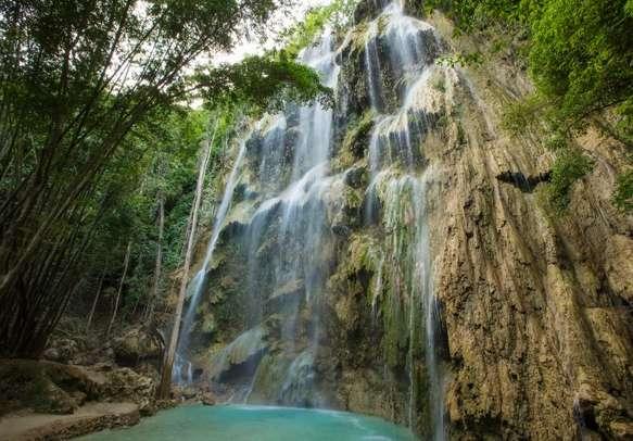 Beautiful waterfall in Cebu
